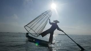 La fameuse danse des pêcheurs du lac Inle